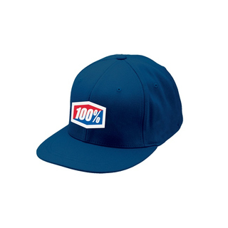 100% Cap Icon Flexfit Blue