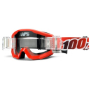 100% MX Brille The Strata Red SVS Roll Off klar