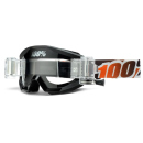 100% MX Brille The Strata Black/Orange SVS Roll Off, klar