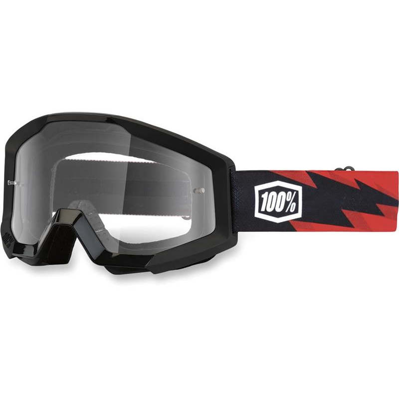 100% MX Brille Strata Slash, klar