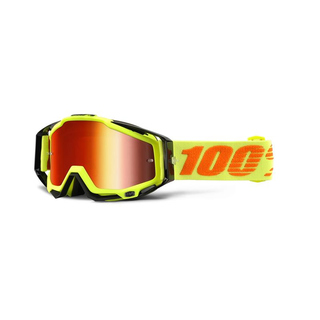 100% Crossbrille Racecraft Attack Yellow rot verspiegelt