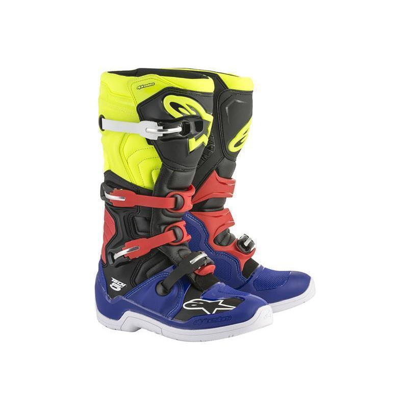 Alpinestars Tech 5 Stiefel Blue/Black/Fluo Yellow/Red