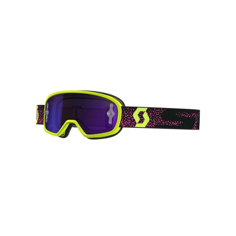 Scott Buzz MX Kinder Brille Schwarz Neon Gelb