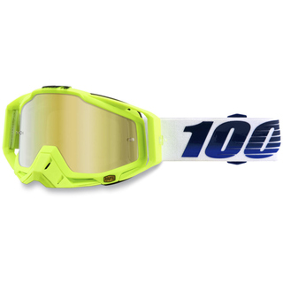 100% Crossbrille Racecraft GP21 gold verspiegelt