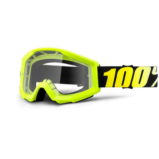 100% MX Brille Strata Neon Yellow, klar