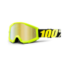 100% MX Brille Strata Neon Yellow, gold verspiegelt