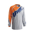 Thor Kinder MX Jersey Phase Vented Doppler Grau/Orange