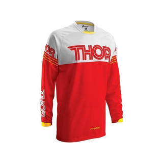 Thor Kinder MX Jersey Phase Hyperion rot/weiß