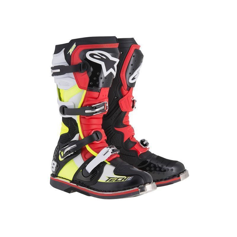 Alpinestars MX Stiefel Tech 8 RS, Black/Red/Flou Yellow
